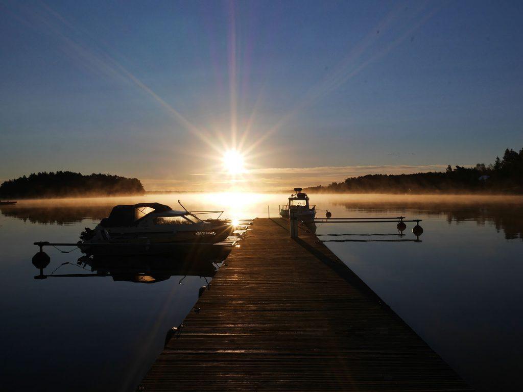 Sonnenuntergang Aland