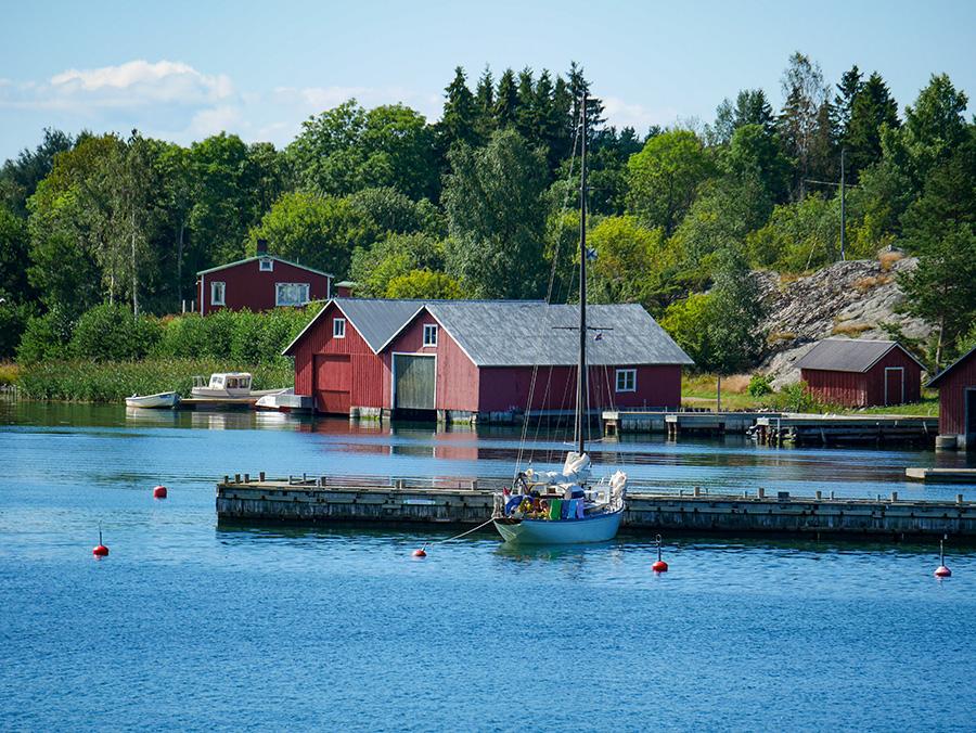 Aland Hafen Boote