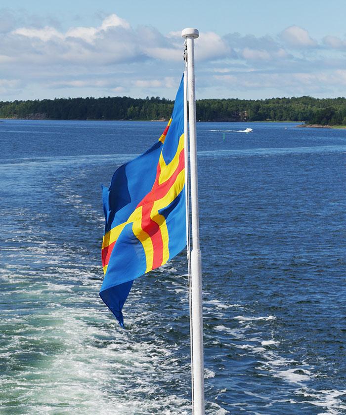 Åland Flagge