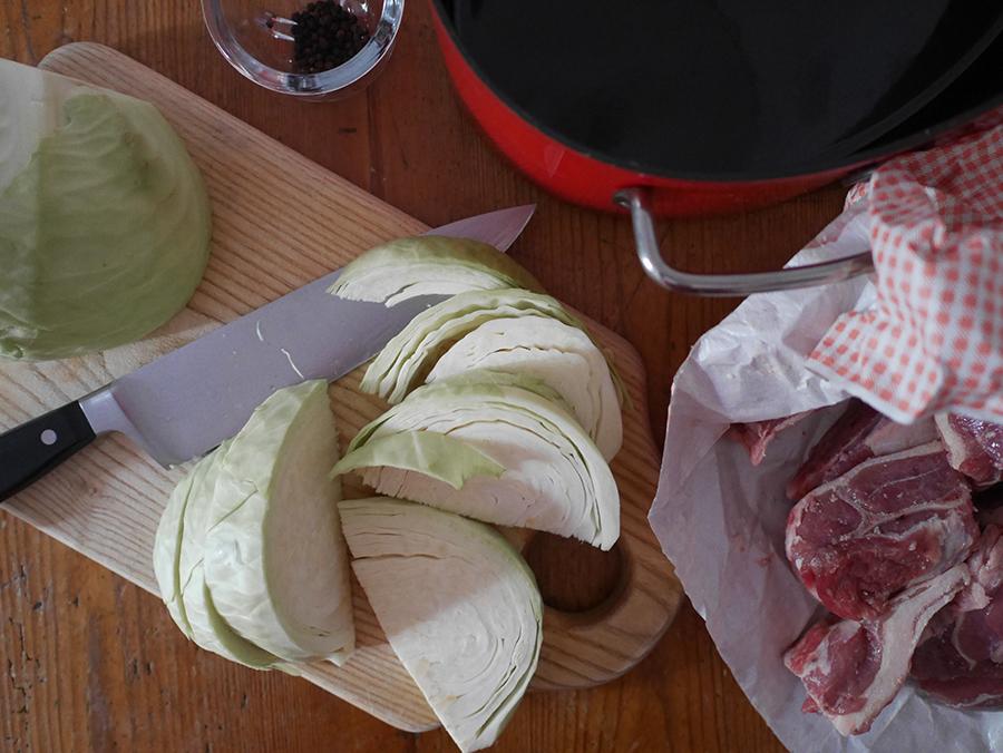Norwegischer Lammeintopf Vorbereitung