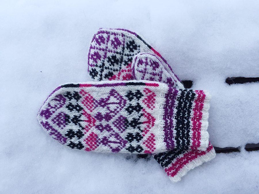 Handschuhe Norwegermuster