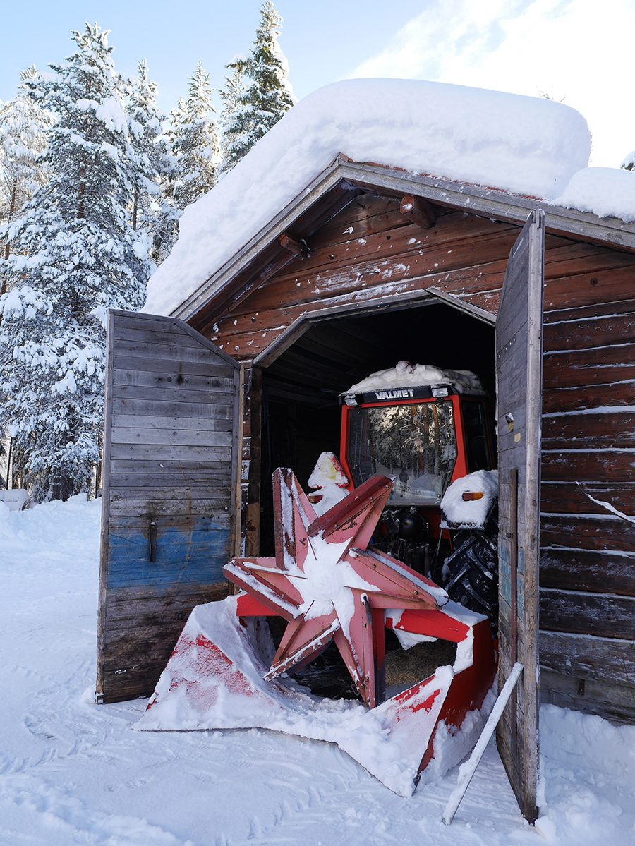 Lappland Schneepflug