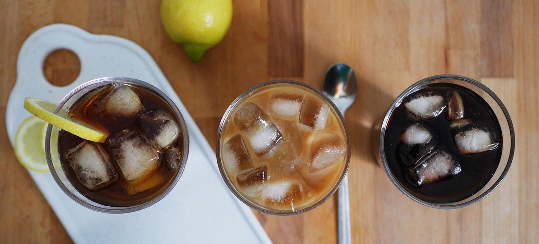 Dreimal Cold Brew Kaffee