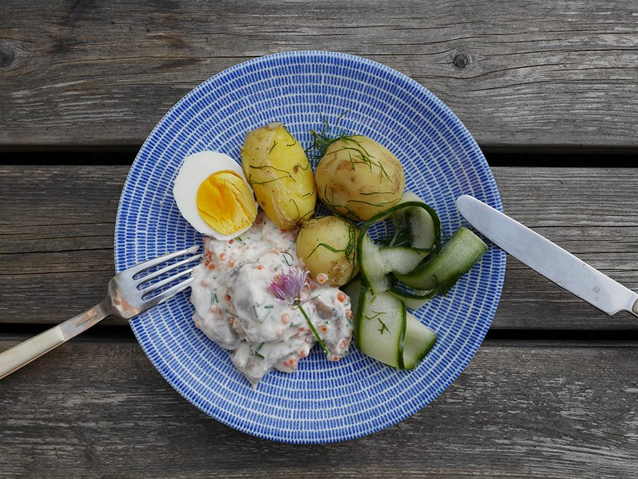 Heringe m,it Kartoffeln