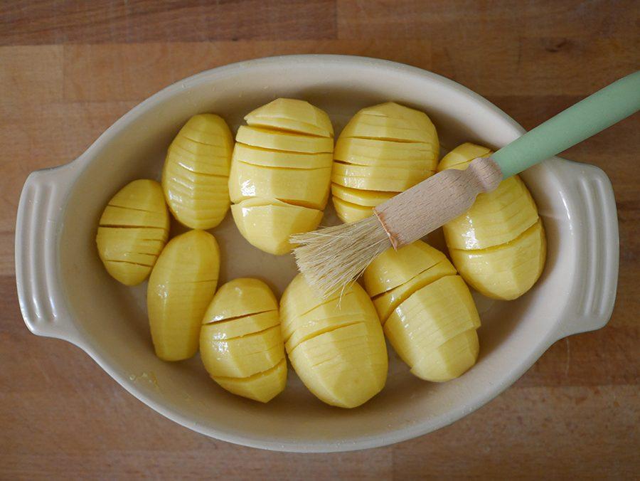 Zubereitung Hasselbackkartoffeln