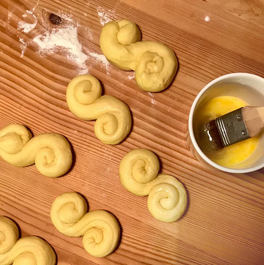 Lussekatter backen