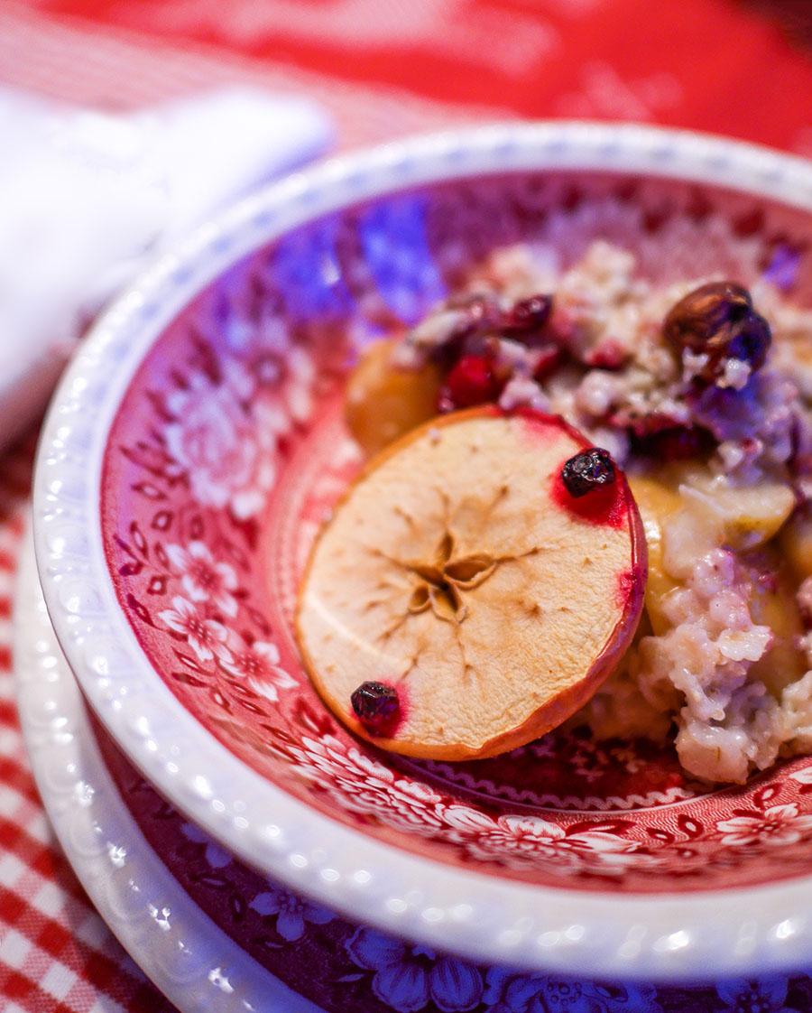 Porridge mit Äpfeln
