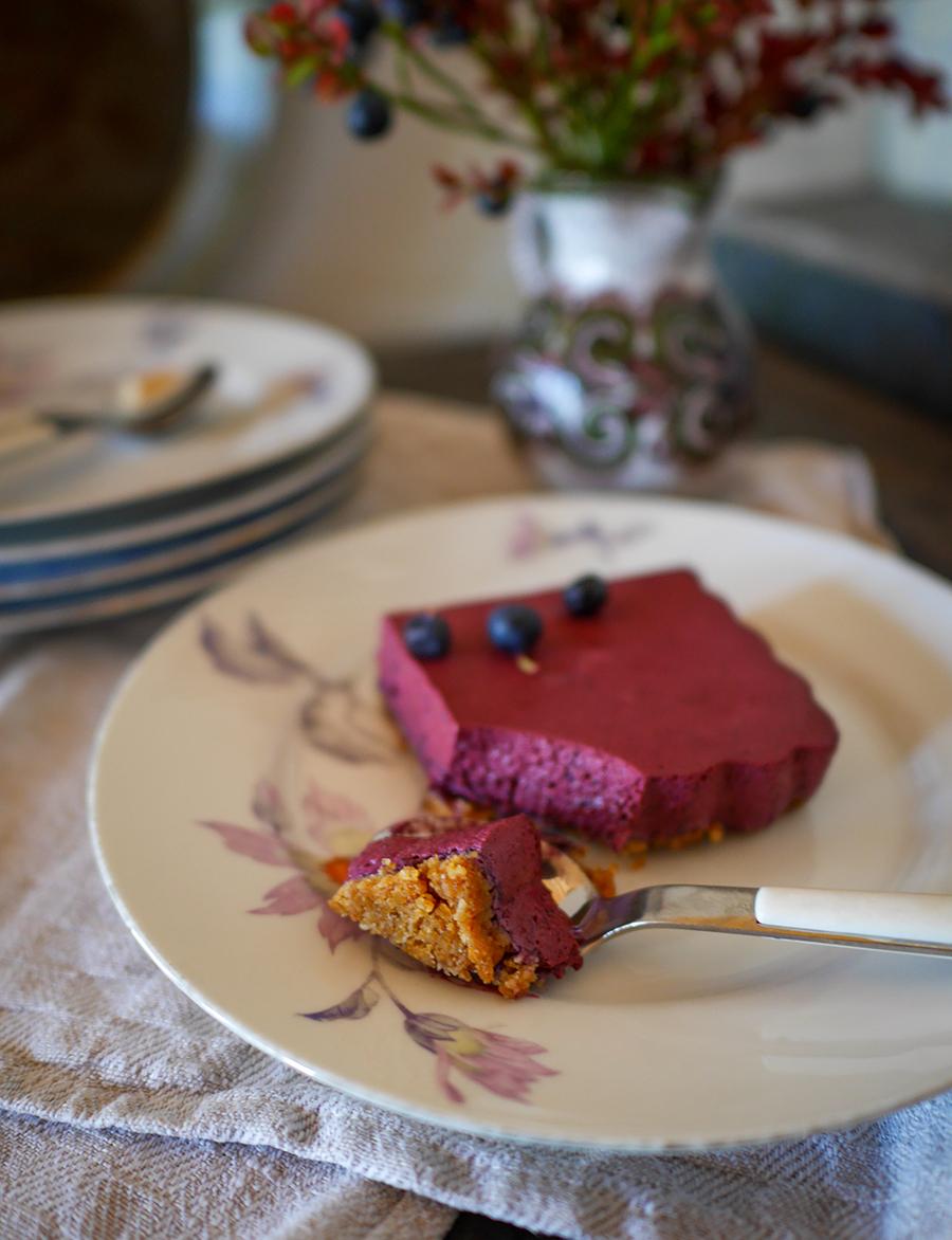 No bake Blaubeer Cheesecake