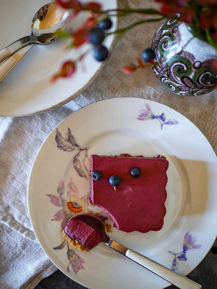 finnischer Blaubeer Cheesecake