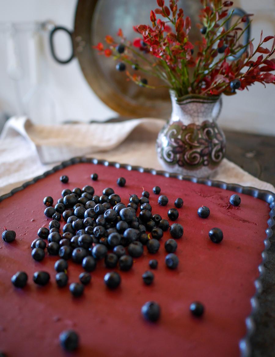 Finnisches Rezept Blaubeer-Cheesecake