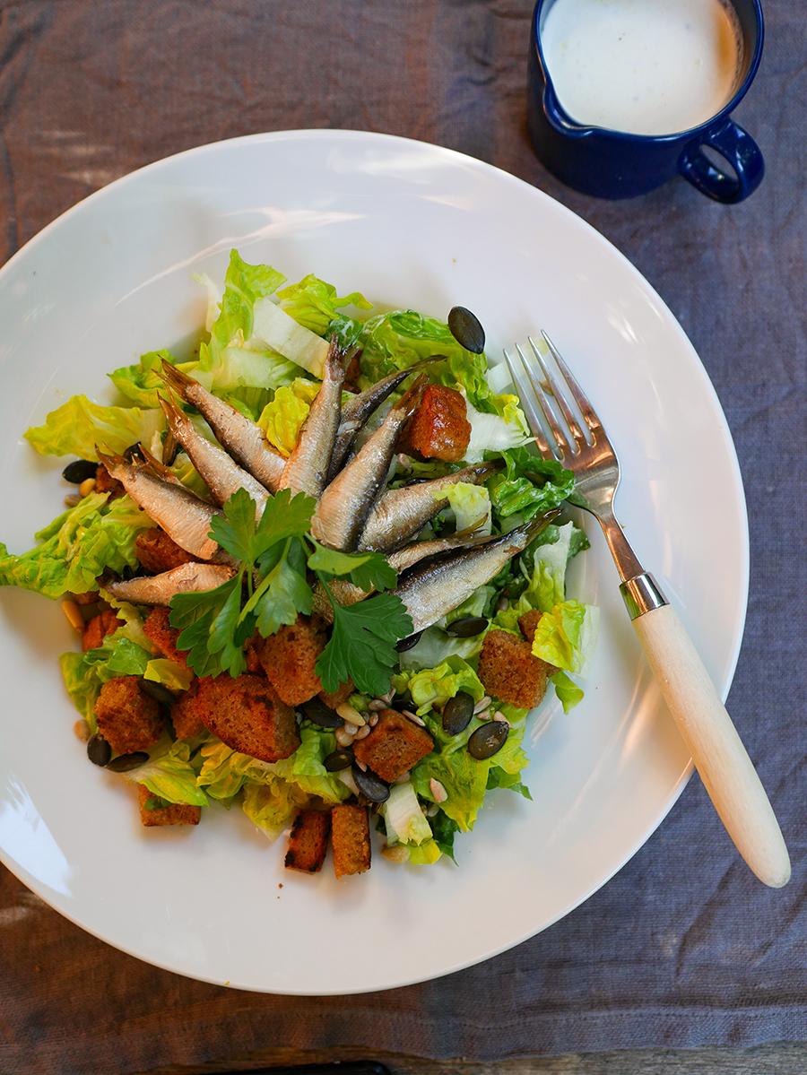 Salat mit Sprotten