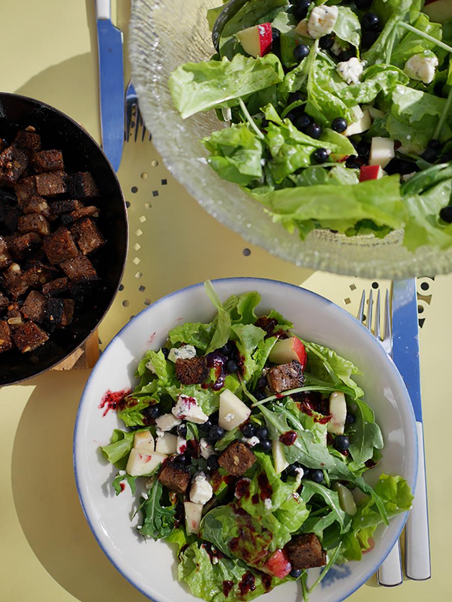 Campingküche Salat