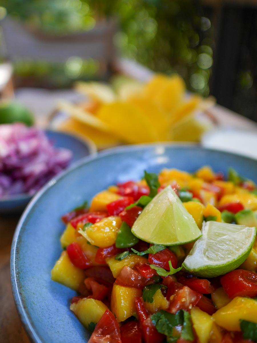Mangosalsa für Tacos