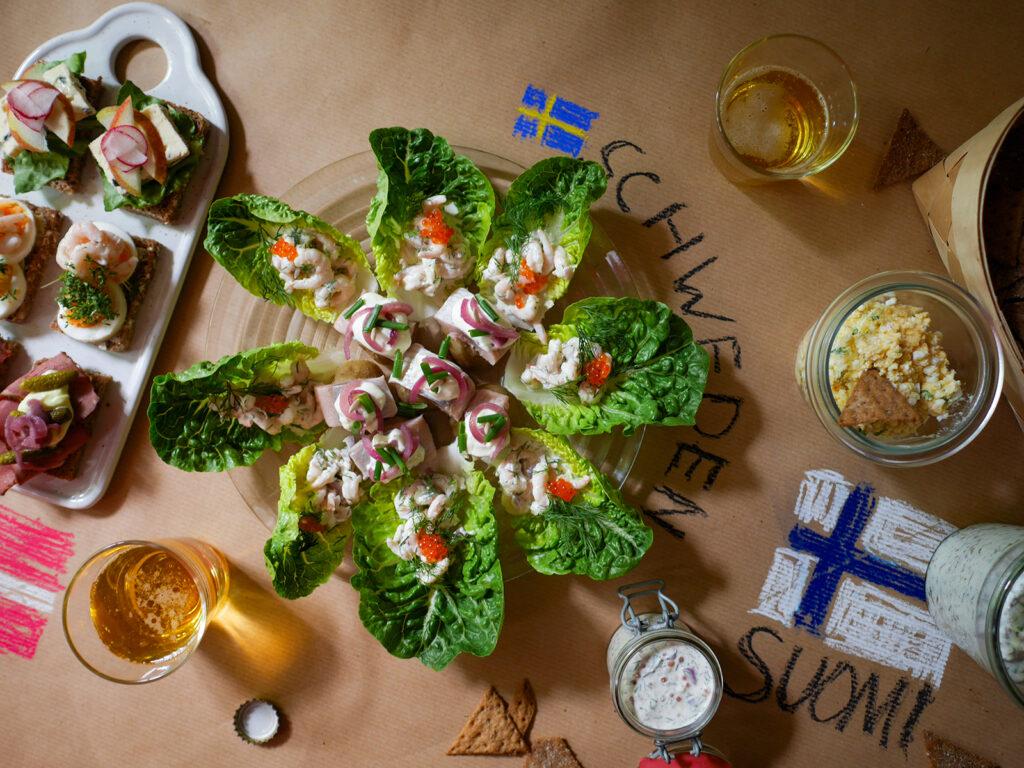 skandinavische Party-Snacks