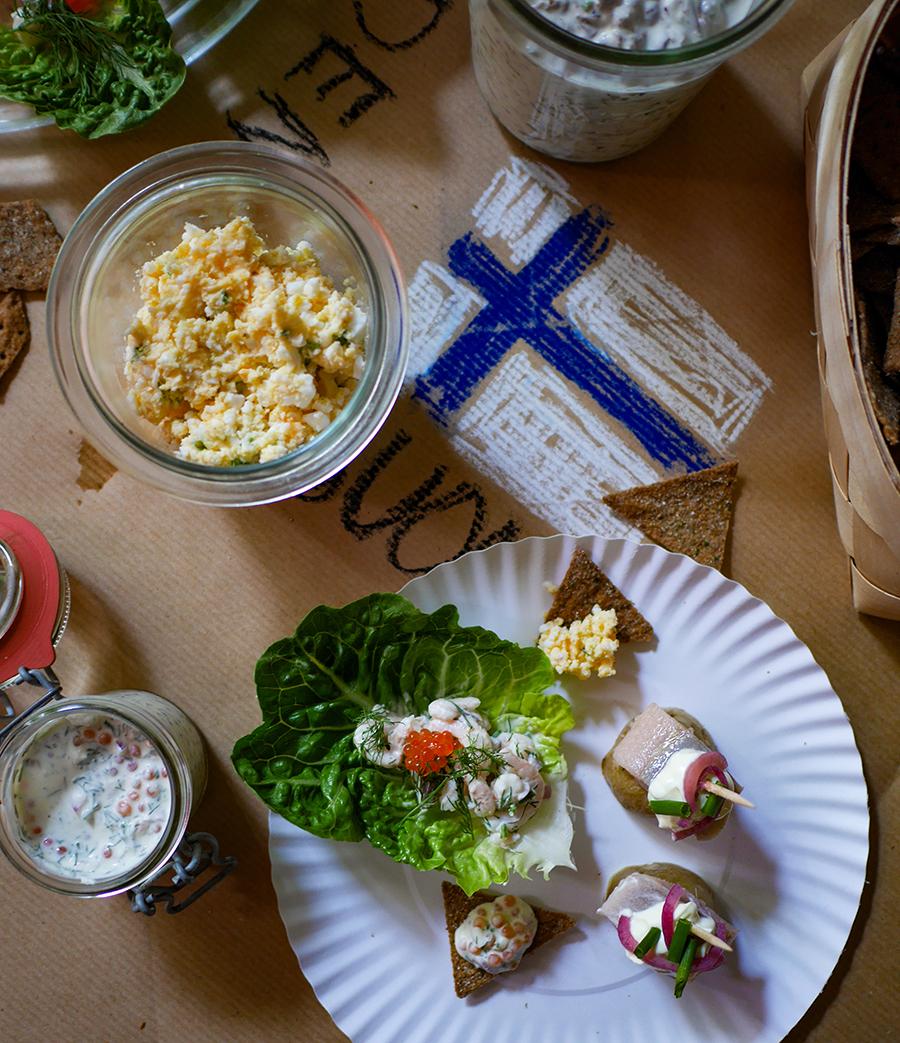 skandinavische Party Snacks