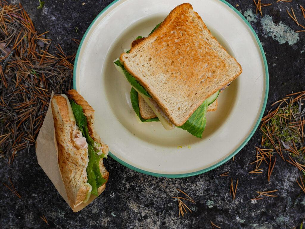 gegrilltes Fisch-Sandwich